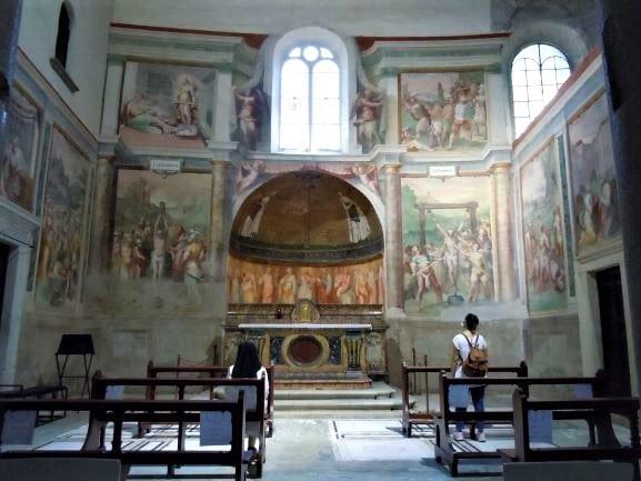 Celio cappella dei Santi Primo e Feliciano nella Basilica di Santo Stefano Rotondo