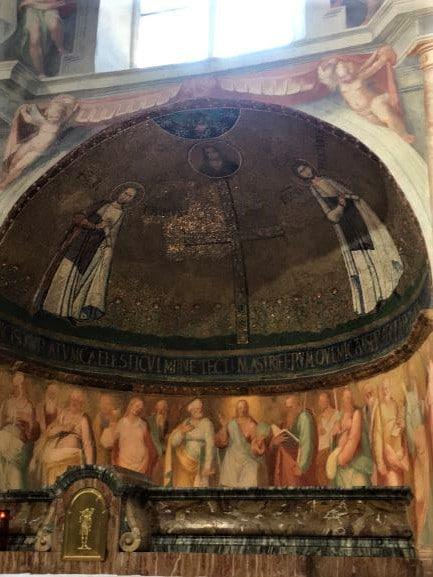 Celio mosaico absidale della cappella dei Santi Primo e Feliciano nella Basilica di Santo Stefano Rotondo