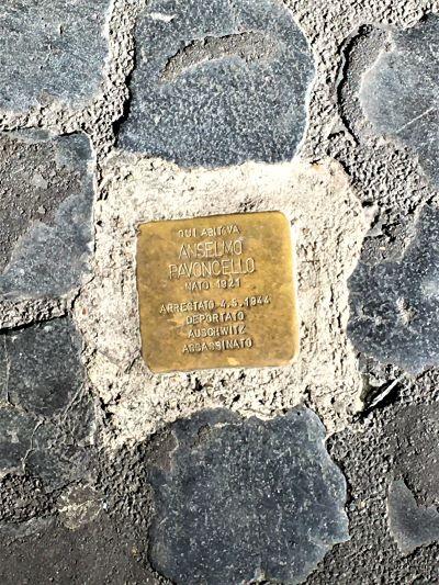 Ghetto di Roma, pietra d'inciampo