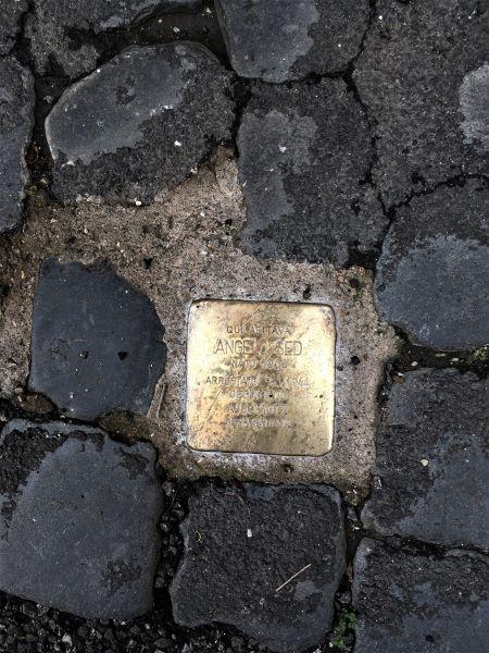 Il ghetto di Roma pietra d'inciampo in via Sant'Angelo in Pescheria