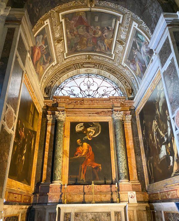 Caravaggio a Roma, cappella Contarelli
