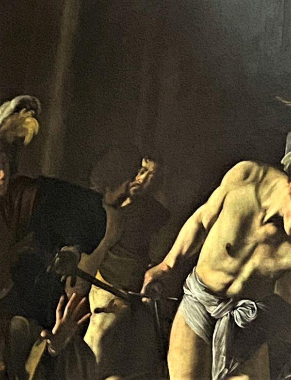Caravaggio a Roma, autoritratto di Caravaggio nel Martirio di San Matteo