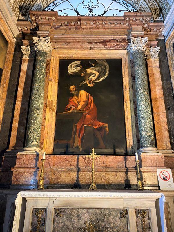 Caravaggio a Roma, San Matteo e l'angelo