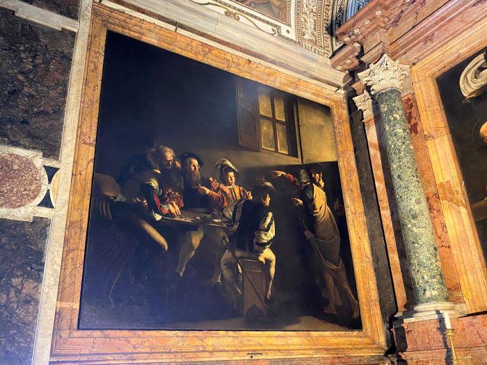 Caravaggio a Roma, vocazione di San Matteo