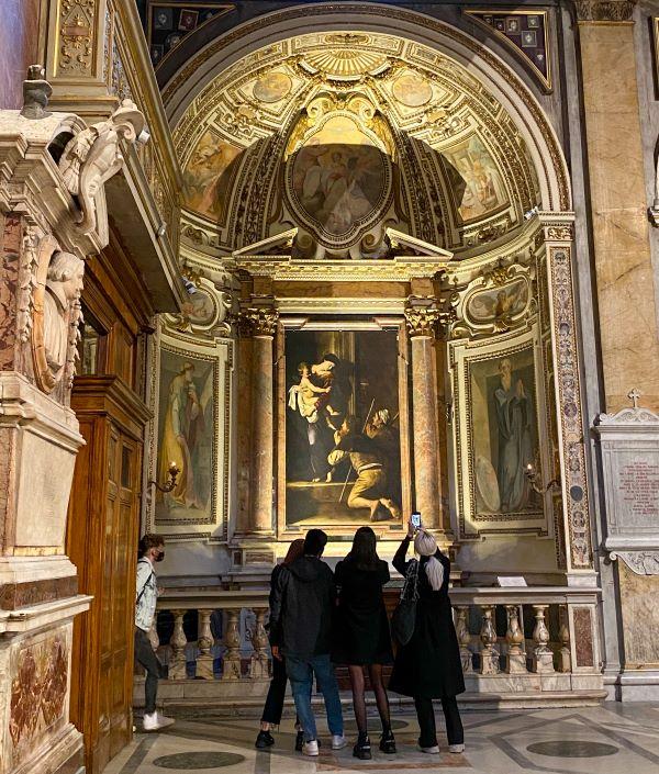 Caravaggio a Roma, cappella Cavalletti