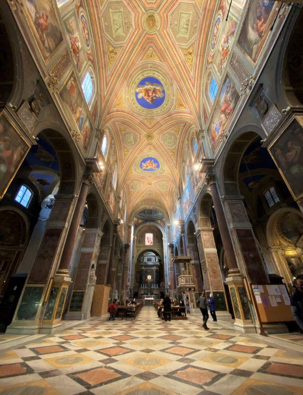 Caravaggio a Roma, interno di Sant'Agostino