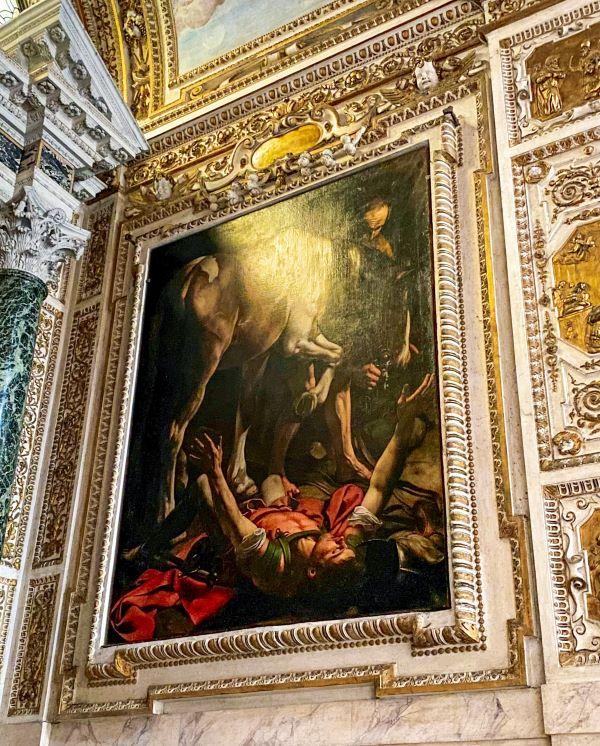 Caravaggio a Roma, conversione di San Paolo