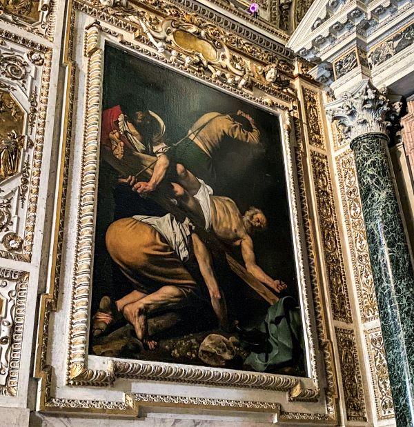 Caravaggio a Roma, Crocefissione di San Pietro