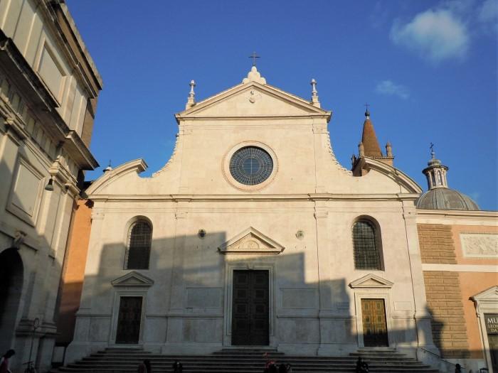 Caravaggio a Roma, facciata di Santa Maria del Popolo