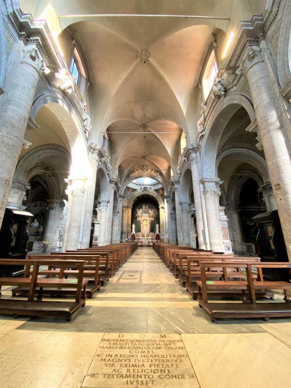Caravaggio a Roma, interno di Santa Maria del Popolo