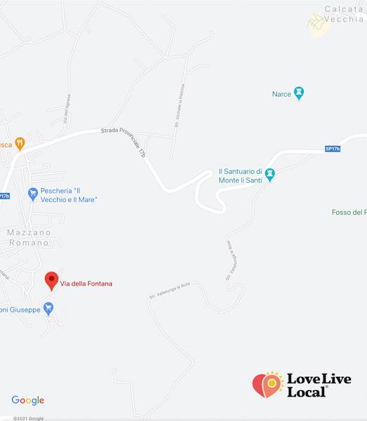 Valle del Treja, mappa del percorso