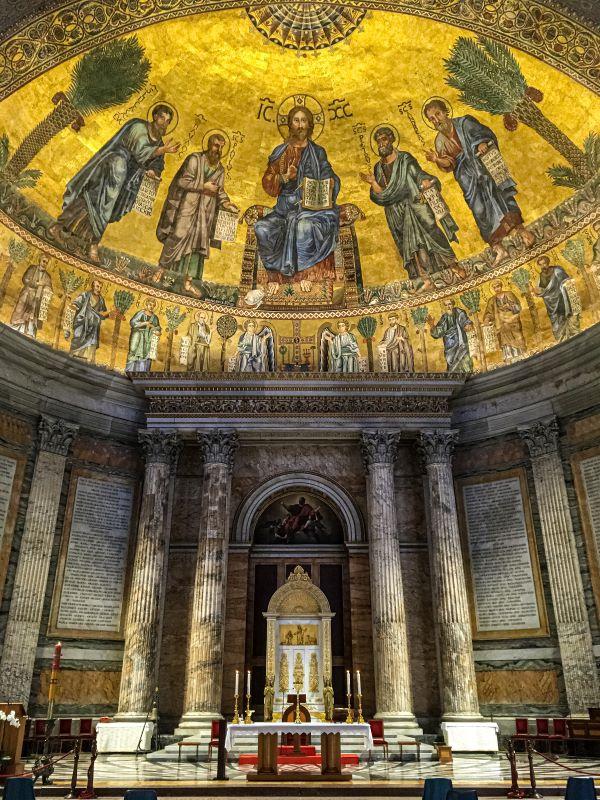 Quartiere Ostiense, San Paolo fuori le mura. La cattedra papale.