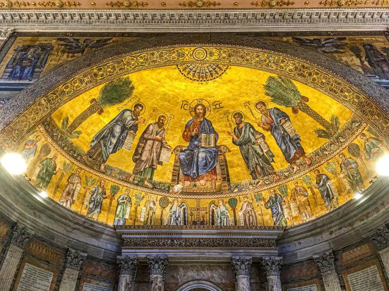 Quartiere Ostiense, mosaico dell'abside di San Paolo fuori le mura