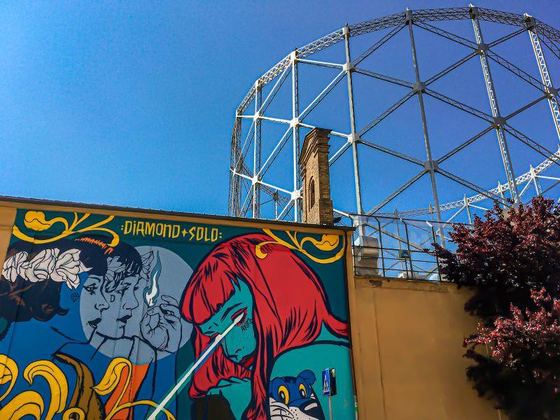 Quartiere Ostiense, street art e archeologia industriale.