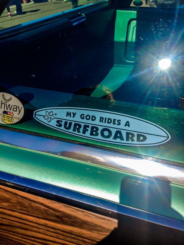 Surf a Roma, uno sticker.