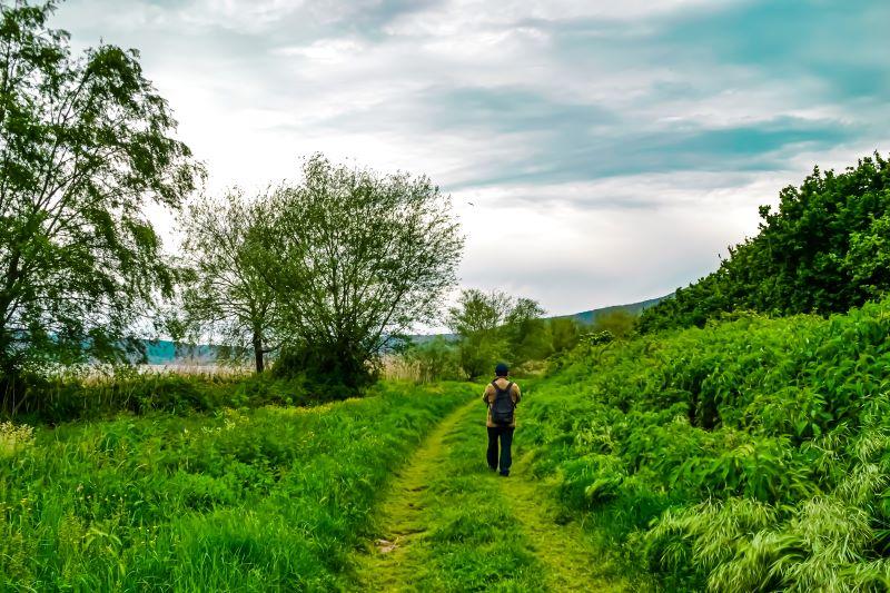 Lago di Vico Fabio lungo il sentiero Le Prove