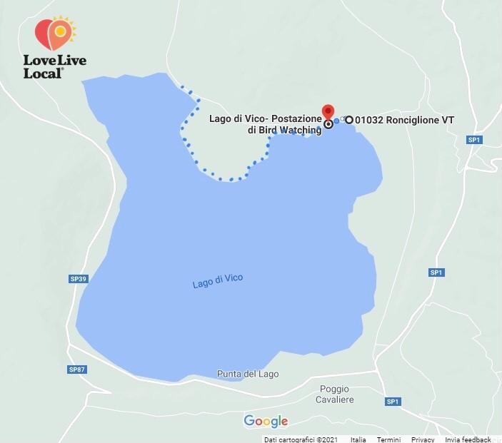 Lago di Vico mappa