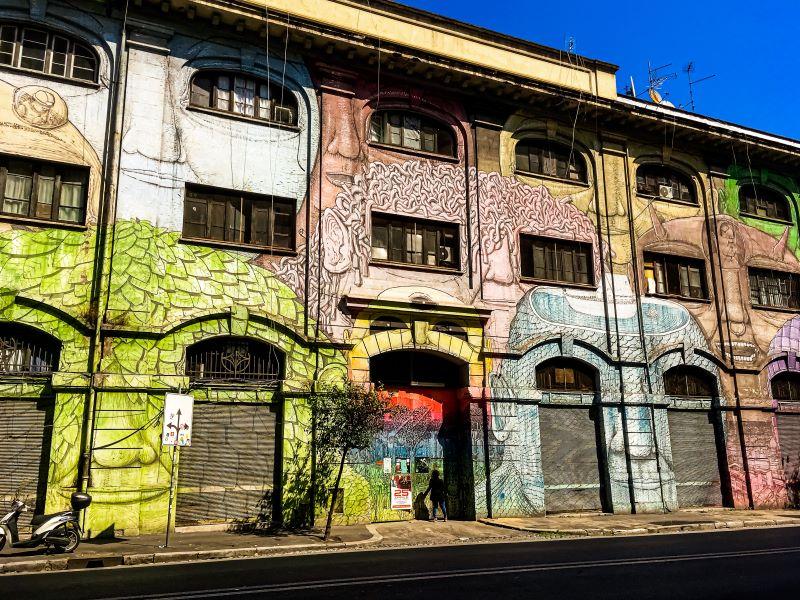 Murales di Ostiense Senza Titolo di Blu del 2013 in via del Porto Fluviale