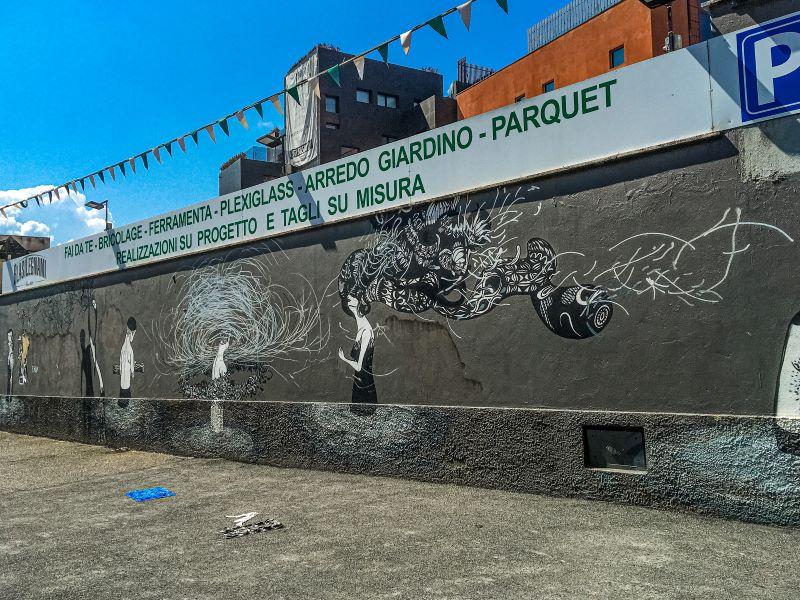 Murales di Ostiense Senza Titolo di Herbert Baglione