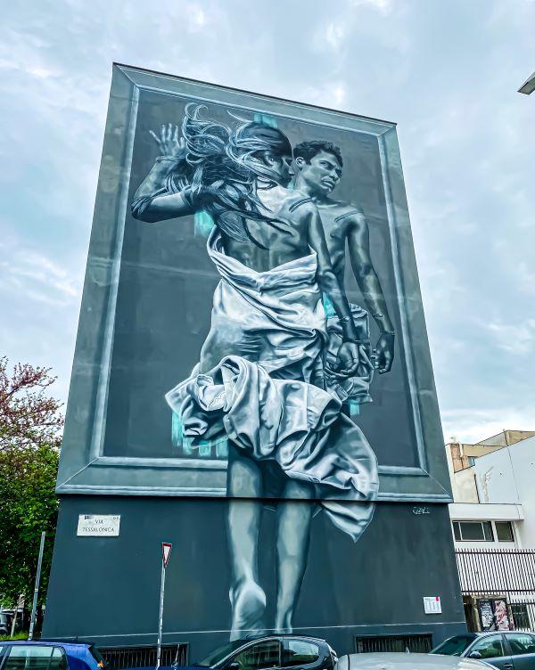 Murales di Ostiense Outside In di JDL