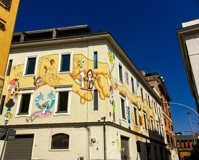 Murales di Ostiense Cartoon Network di Omino71 e Mr. Klevra