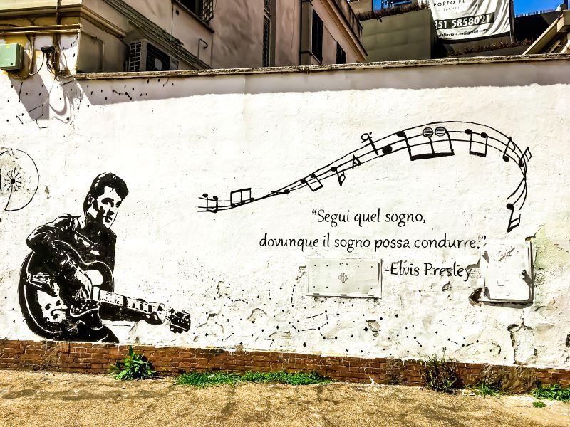 Murales di Ostiense Elvis in via delle Conce