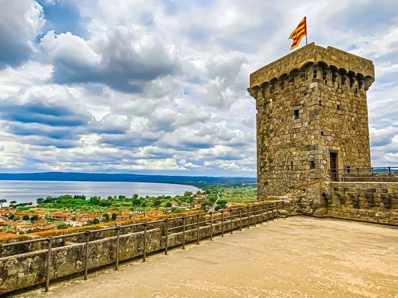 Bolsena una torre della Rocca Monaldeschi della Cervara nel borgo