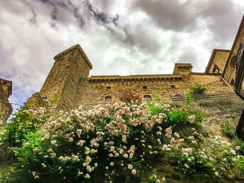 Bolsena la Rocca Monaldeschi della Cervara nel borgo vista dal basso