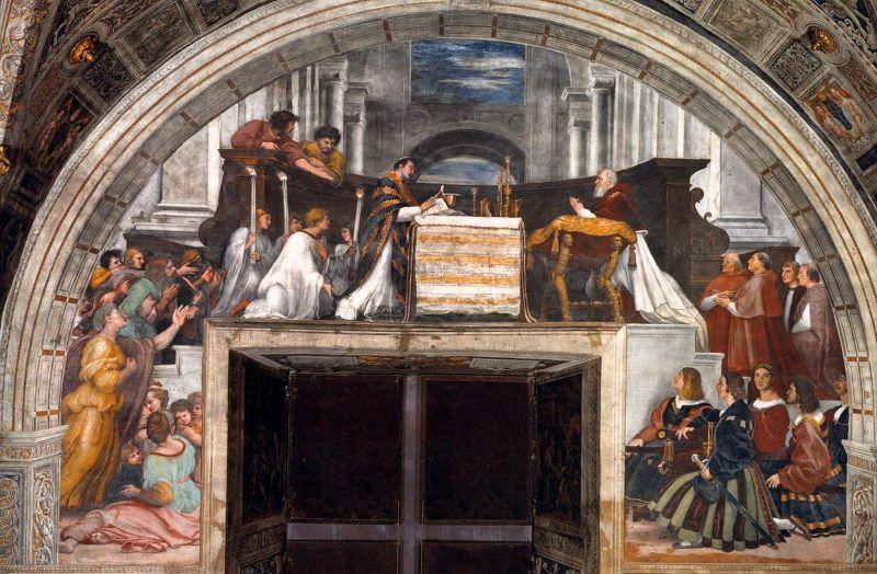Bolsena la Messa di Bolsena di Raffello alle Stanze Vaticane