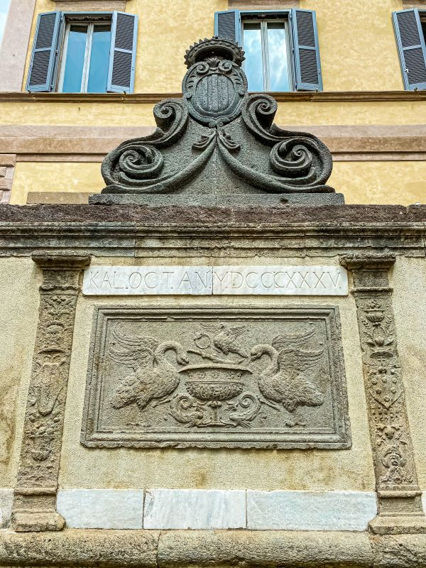Bolsena un particolare della fontana di Giovanni de' Medici in piazza San Rocco