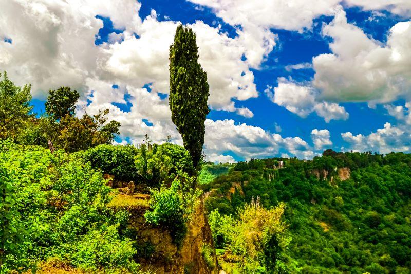 Civita di Bagnoregio un giardino privato nel borgo sul belvedere per Lubriano