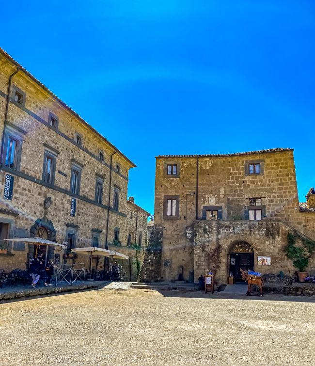 Civita di Bagnoregio Museo Geologico e delle Frane in piazza San Donato nel borgo