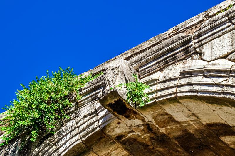 Velabro una delle statue negli archi di volta dell'Arco di Giano