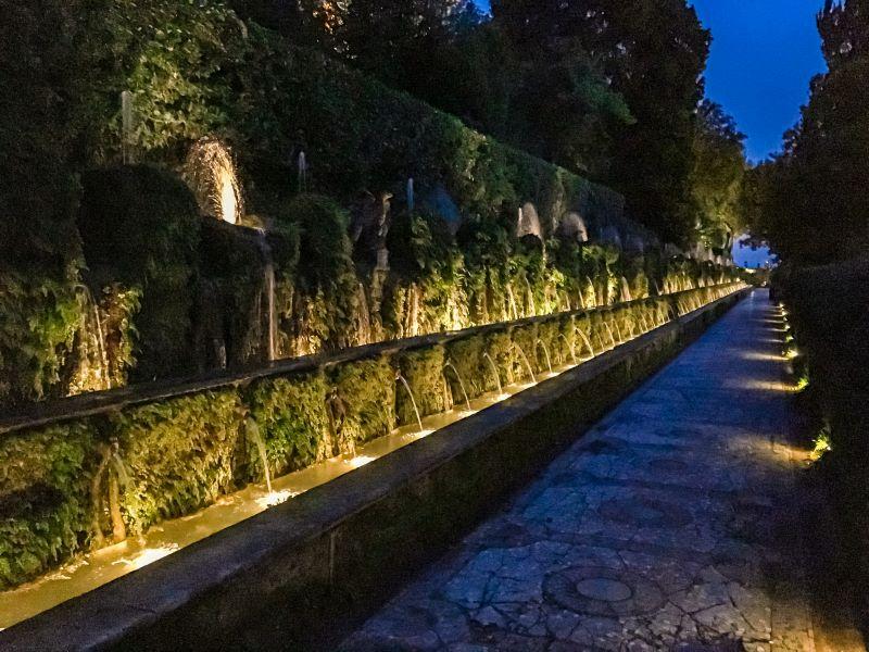 Tivoli Cento Fontane di Pirro Ligorio a villa d'Este